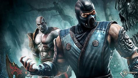 imagenes en hd de mortal kombat x kratos and scorpion full hd fondo de pantalla and fondo de