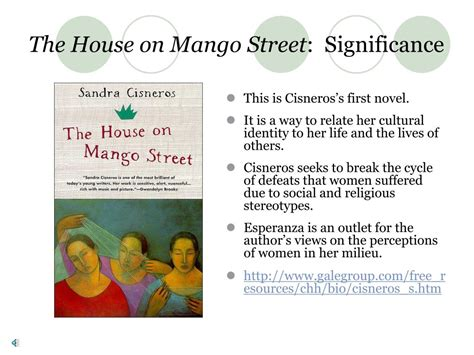 the house on mango street sparknotes ppt sandra cisneros powerpoint presentation id 323701