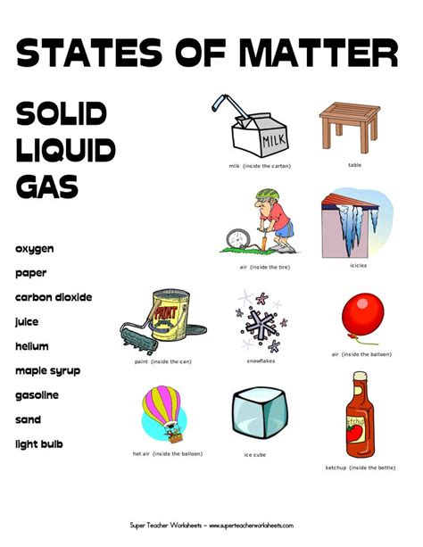 Grade Matter Worksheets by 8 Best Images About States Of Matter On