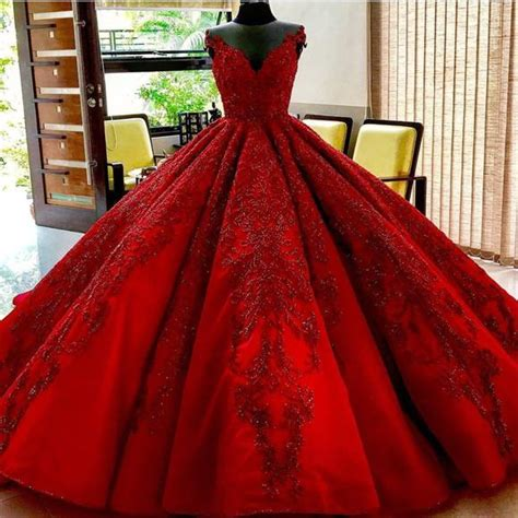 V Dress Mercure Merah burgundy wedding dresses gowns lace embroidery alinanova