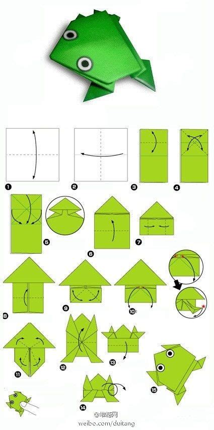 Origami Frog Steps - best 25 origami frog ideas on jumping frog