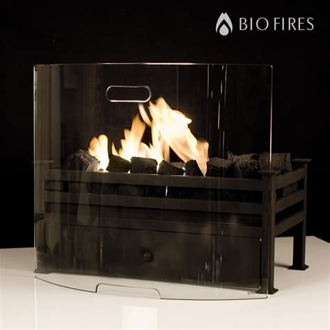 curved glass fireplace screen bio fires gel fireplaces