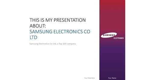 samsung presentation template samsung powerpoint template widescreen slide1