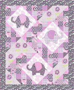 free pattern elephant pop quilt including elephant