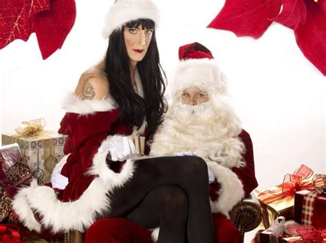 howard stern dresses in drag for christmas card see the