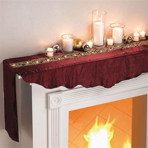 fireplace mantel scarves