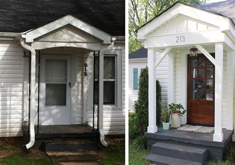 before after cottage curb appeal makeover