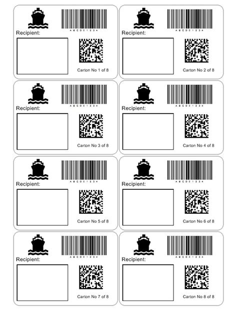 Custom Shipping Label Template