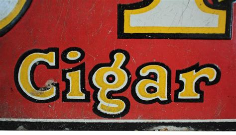 antique porcelain cigar sign  stdibs