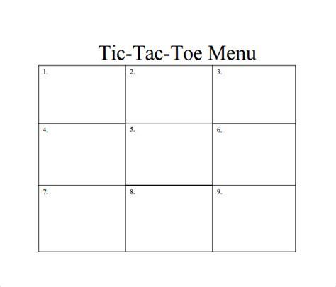 sample tic tac toe templates   ms word
