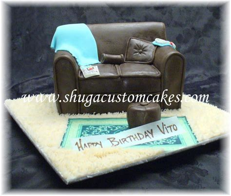 cake sofa brown leather sofa cake shuga custom cakes pinterest