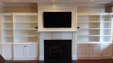 Fireplace Mantel Bookshelves by Custom Built In Bookshelves And Custom Belmont