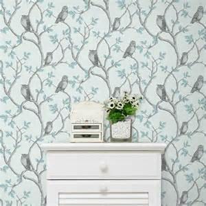 Attractive Couleur Peinture Chambre Adulte #14: Papier-peint-bleu-et-gris-decoration-murale-chambre-a-coucher.jpg