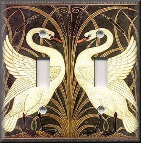 art nouveau home decor light switch plate cover art nouveau swans vintage