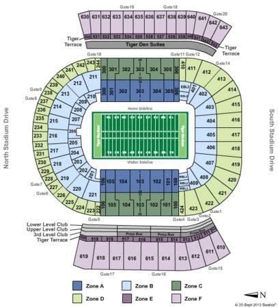 of stadium seating capacity tiger stadium tickets in baton louisiana tiger