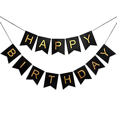 Banner Happy Birthday Black White happy birthday banner clipart black and white clipartxtras