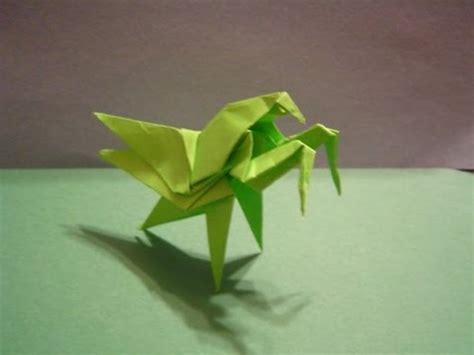 Origami Mantis - origami daily 192 praying mantis modular origami