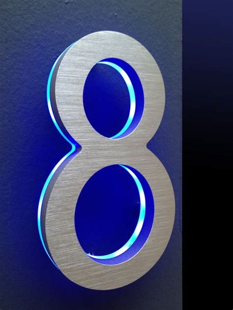 led lighted house numbers led house numbers signage apartment number signs