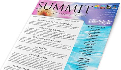 apartment community newsletter templates affordable apartment newsletters for community resident