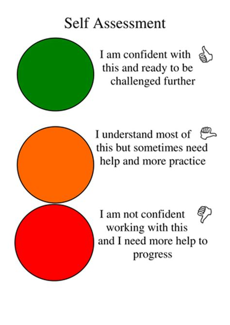 traffic light cards template self assessment traffic lights by jencprice teaching