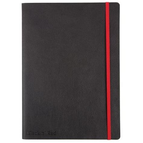 A5 Casebound Notebook Journal Belluno Leather Look Top - black n a5 90g m2 casebound business journal with