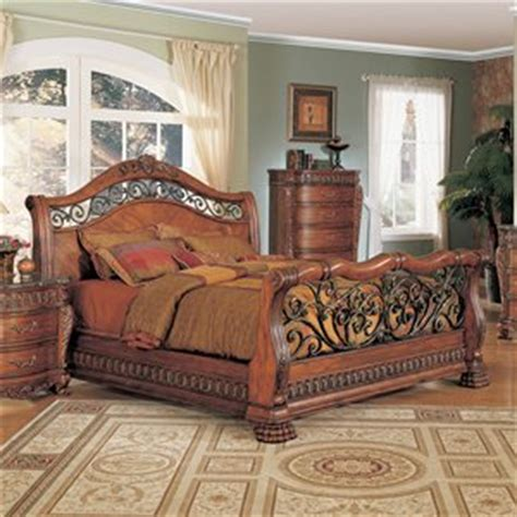 wood and wrought iron bedroom sets yuan tai furniturefinish cherry bed size eastern king