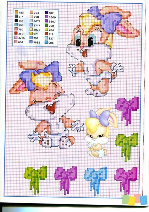 lettere punto croce da stare baby lola bunny schema punto croce magiedifilo it punto