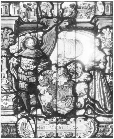 heraldic panel with arms of johann segler corpus