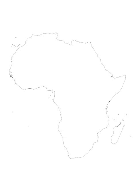Blank Outline Of Africa by Africa Printable Maps By Freeworldmaps Net