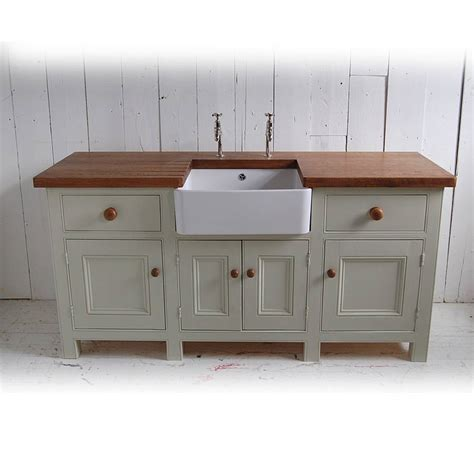 kitchen sink unit free standing kitchen sink unit by eastburn country furniture notonthehighstreet