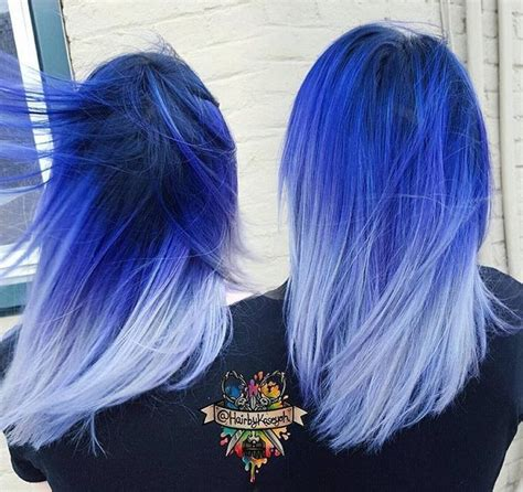 ombre colorful hair electric blue and purple ombre hair www pixshark