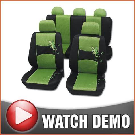 1998 volkswagen beetle car seat covers peugeot 206 1998 2003 gecko green black seat covers airbag
