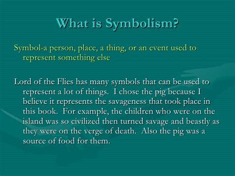 symbols used in lord of the flies pamela lord of the flies symbolism project