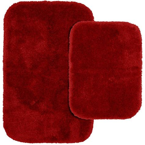 red bathroom rug garland rug finest luxury chili pepper red 21 in x 34 in