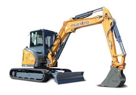 zero tail swing excavator mustang 550z zero tail swing compact excavator