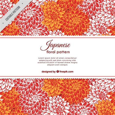 cute japanese pattern hand drawn cute japanese flowers pattern vector free