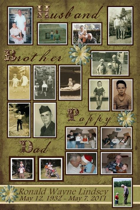 picture board ideas sle memorial board photography pinterest