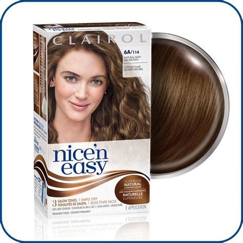 6a hair color clairol n easy 6a 114 light ash brown