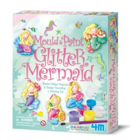 4m Mould And Paint Sealife 00 03511 mould paint glitter mermaids 4m craft kit from who what why