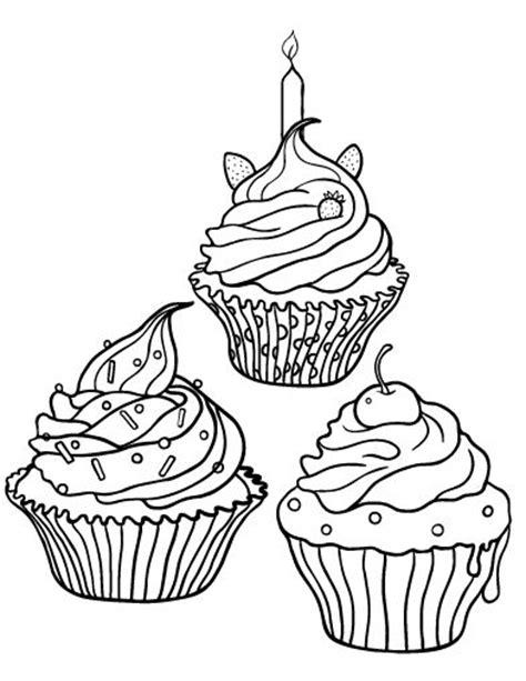 mini cupcake coloring page printable cupcake coloring page free pdf download at http