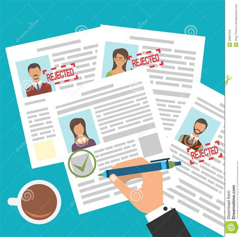approved candidate resume vector cartoondealer