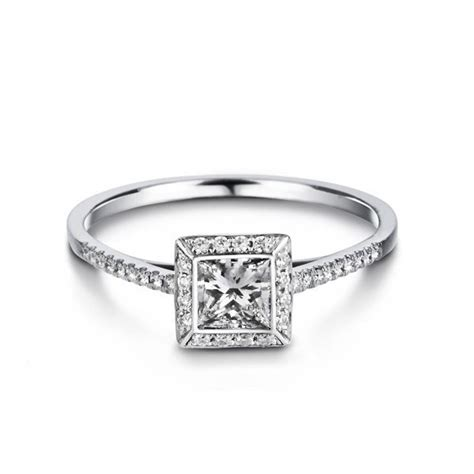 affordable princess cut engagement ring on 9ct