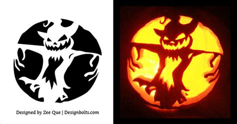 scary halloween pumpkin carving patterns
