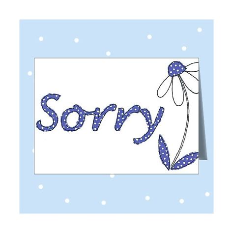 how to make sorry cards sorry card