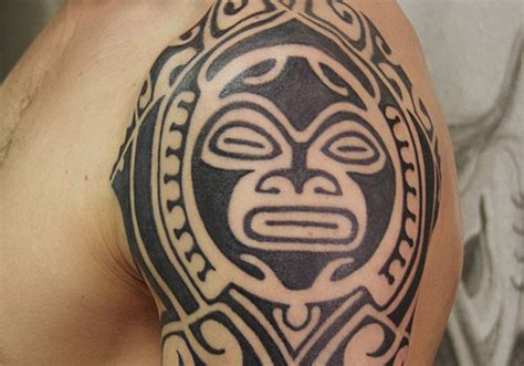 aztec tribal sleeve tattoos aztec tribal design on sleeve tribal sleeve