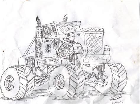 monster trucks drawings monster jam drawings