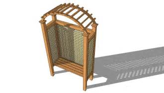 download arbor plans that include benches free garden bench construct