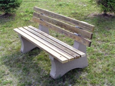 concrete wood bench concrete benches are durable but not boring
