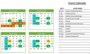 Events Calendar Template Excel by Event Calendar Template Excel Images