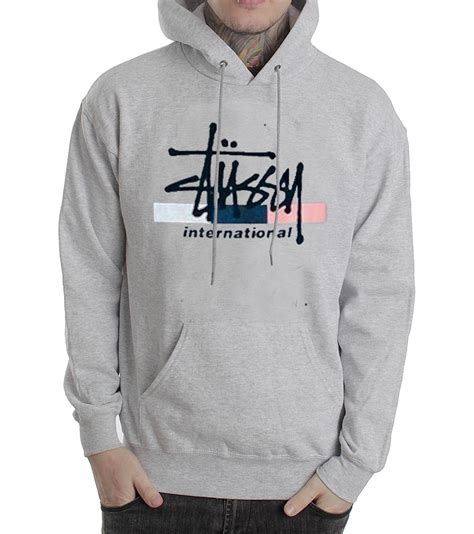 Sweater Hoodie Globe Int Est stussy international grey color hoodies